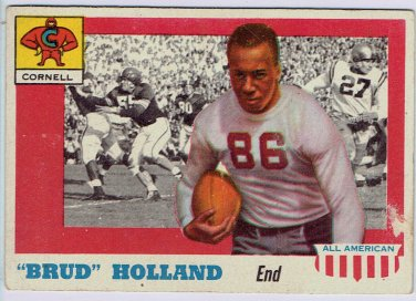 "1955 Topps All American  ""Brud"" Holland Cornell #39B Card, cards"