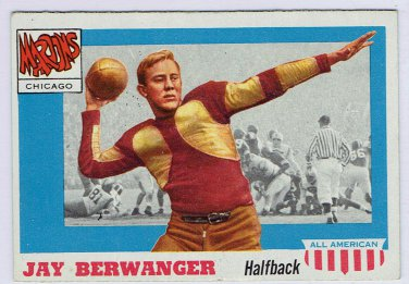 1955 Topps All American Jay Berwanger #78 Chicago Football Card, cards