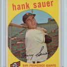 1959 Topps Hank Sauer #404 San Francisco Giants Baseball Card, cards