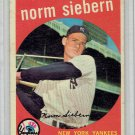 1959 Topps Norm Siebern #308 New York Yankees Baseball Card, cards