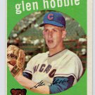 1959 Topps Glen Hobbie #334 Chicago Cubs Baseball Card, cards