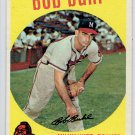 1959 Topps Bob Buhl #347 Milwaukee Braves Baseball Card, cards