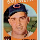 1959 Topps Earl Averill #301 Chicago Cubs Baseball Card, cards