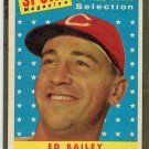 1958 Topps Ed Bailey #490 Cincinnati Redlegs Baseball Card, cards