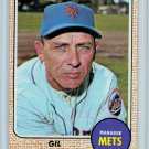 1968 Topps Gil Hodges #27 New York Mets Baseball Card, cards