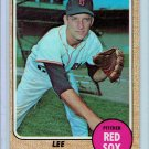 1968 Topps Lee Strange #593 Boston Red Sox Baseball Card, cards