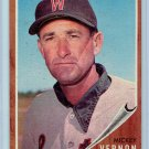 1962 Topps Mickey Vernon #152 Washington Senators Baseball Card, cards