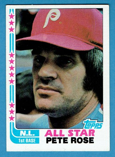 Pete Rose 1982 Topps All Star#180 Phillies Baseball Card, cards