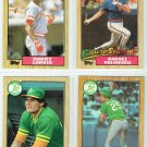 1987 Topps Rookie Four Card Lot Larkin,Palmeiro,Canseco,and McGwire Baseball Card,cards