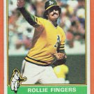 1976 Topps Rollie Fingers #405 Oakland A's Baseball Card, cards