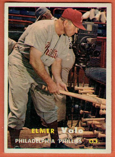 1957 Topps Elmer Valo #54 Philadelphia Phillies Baseball Card,cards