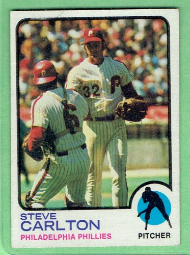 1973 Topps Steve Carlton Philadelphia Phillies Baseball Card, cards