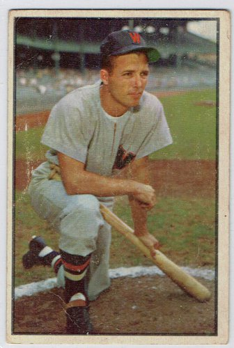 1953 Bowman Color Jim Busby #15 Washington Senators Baseball Card, cards