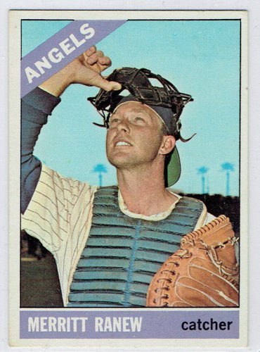 1966 Topps Merritt Ranew (error card) #62 California Angels Baseball Card, cards