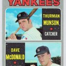 Topps 1970 Thurman Munson #189 New York Yankee Baseball Rookie Card, cards
