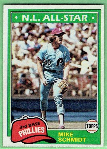 Topps 1981 Mike Schmidt #540 Philadelphia Phillies Baseball Card, cards