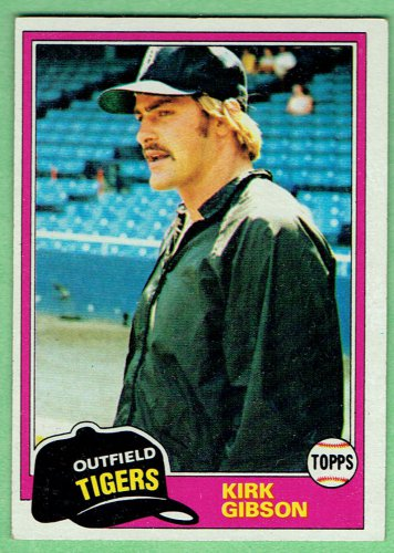 Topps 1981 Kirk Gibson #315 Rookie Baseball Card, cards