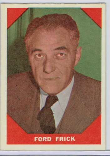 1960 Fleer Ford Frick #74 Commissioner of Baseball Card, cards