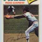 1977 Topps Rod Carew #10 Twins Baseball Cloth Sticker