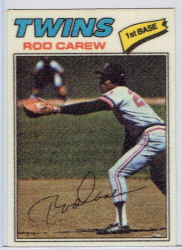1977 Topps Rod Carew #10 Twins Baseball Cloth Sticker