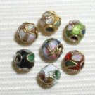 200 New 6mm Mixed Filigree Cloisonne Beads