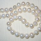 Premium 17&#39;&#39; Strand 8mm Genuine Round Pearl Beads (P11)