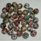 Sale! 40  New 14mm Mixed Handmade Cloisonne Beads