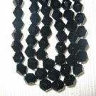 2 Strands 4mm Genuine Crystal Bicone Jet Black Beads