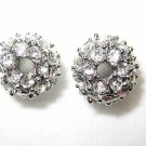 2 10mm Swarovski Rhinestone Ball Rhodium/Crystal AS12