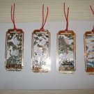 4 Chinese Cloisonne Crane Bookmarks. B1