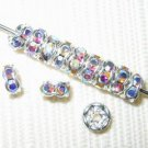 60 Swarovski Rondelle Spacer Beads 5mm Silvr/Crystal AB