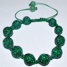 Swarovski Emerald 12mm Pave Ball Shamballa Bracelet  AS83