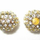 2 12mm Swarovski Rhinestone Pave Ball Gold/Crystal AS10