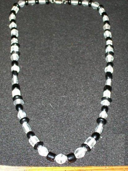 Black Crystal Fashion Glass Necklace