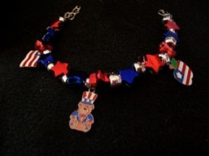 Independence Day Charm Bracelet