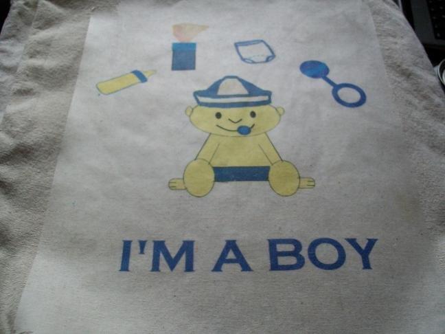 Goody Shack Exclusive I'm a Boy Diaper Bag/Tote
