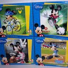 Disney Mickey's Mickey Mouse Sports Puzzles - 63 pieces - Basketball, Biking, Soccar, & Baseball