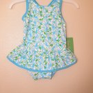 Lilly Pulitzer Ruth Printed Swimsuit White Monkey In Around 18 - 24 Months