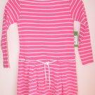 Lilly Pulitzer Maddy Striped Dress Skinny Pink Girsl Size 3