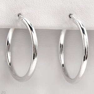 2.20 gram .925 Solid Sterling Silver Hoop Earrings