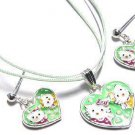 Hello Kitty Heart Necklace & Earrings Trio Set