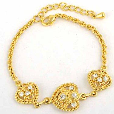 9k Gold Filled Cubic Zirconia Ladies Bracelet