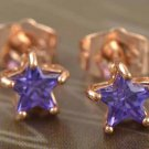 9k Rose Gold Filled Crystal Star Earrings