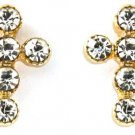 Crystal Stud Cross Earrings