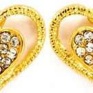 Double Heart GT Crystal Earrings