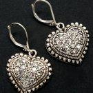 Double Heart Crystal Stud Earrings
