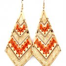 9k Filled Indian Squaw Melon Twine Accented Earrings