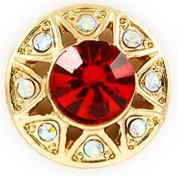 Classic Red Crystal Stud Earrings