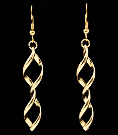 Spiral Hook Earrings Linear Drop