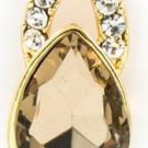 Crystal and Seine Glass Teardrop Earrings